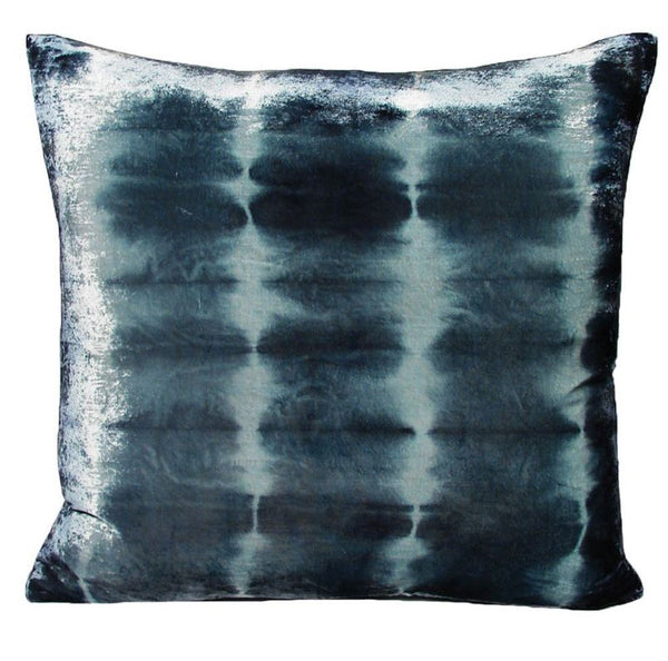 Blueberry Rorschach Velvet Pillow by Kevin O'Brien Studio | Fig Linens