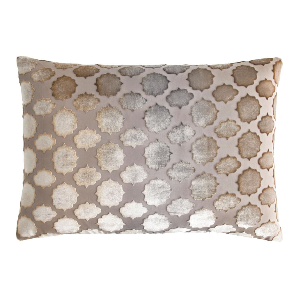 Mod Fretwork Coyote Velvet Pillows by Kevin O'Brien Studio