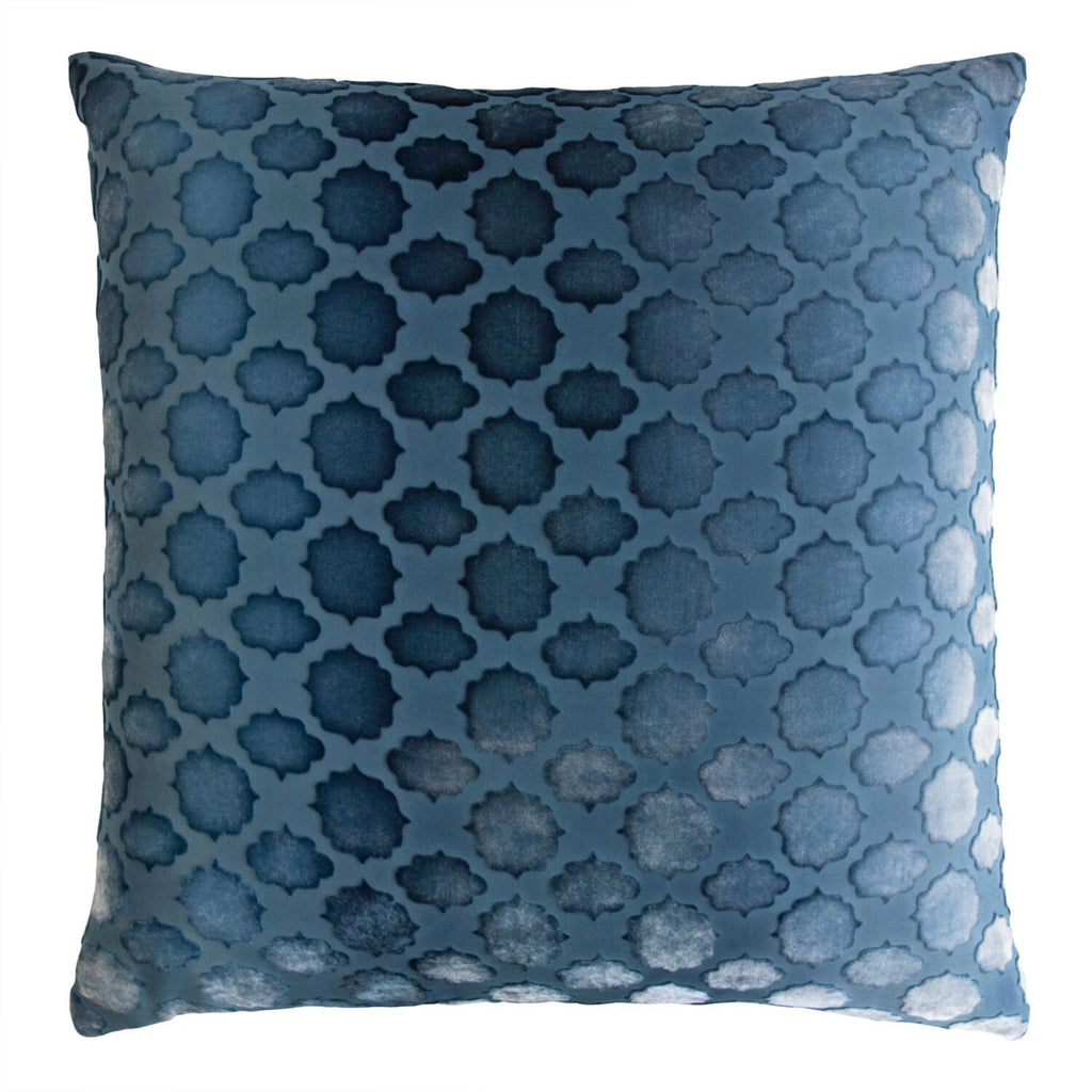 Mod Fretwork Square Velvet Pillows by Kevin O'Brien Studio | Fig Linens