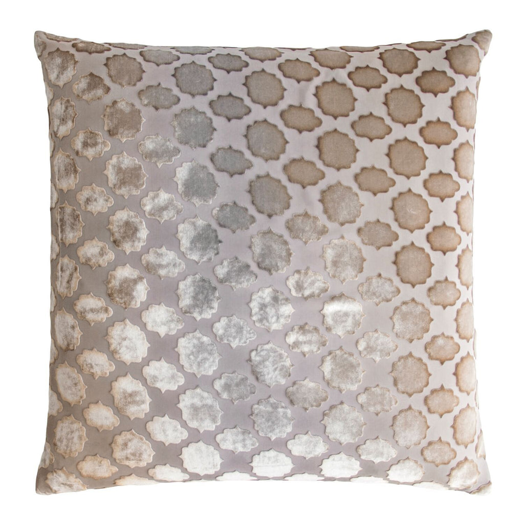 Fig Linens - Mod Fretwork Coyote Velvet Square Throw Pillows by Kevin O'Brien Studio