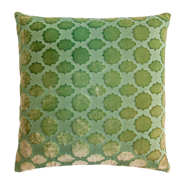 Mod Fretwork Grass Pillows by Kevin O'Brien Studio | Fig Linens
