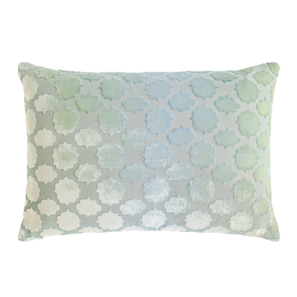 Mod Fretwork Velvet Ice Pillows by Kevin O'Brien Studio | Fig Linens