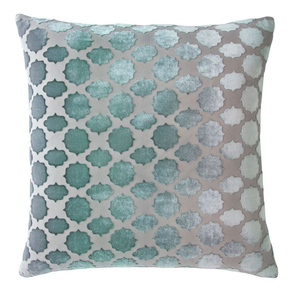 Mod Fretwork Jade Pillows by Kevin O'Brien Studio | Fig Linens