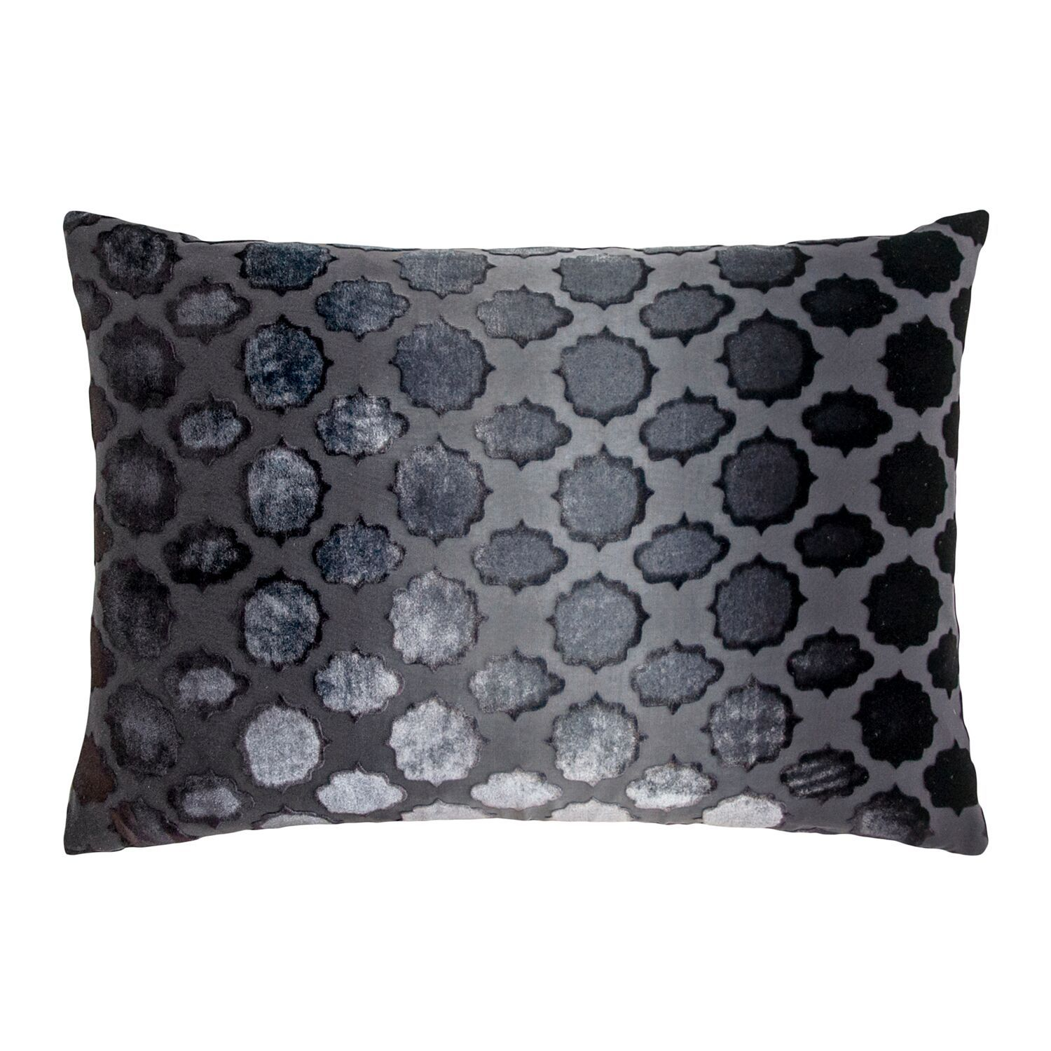 Fig Linens - Mod Fretwork Smoke Velvet Pillows by Kevin O'Brien Studio