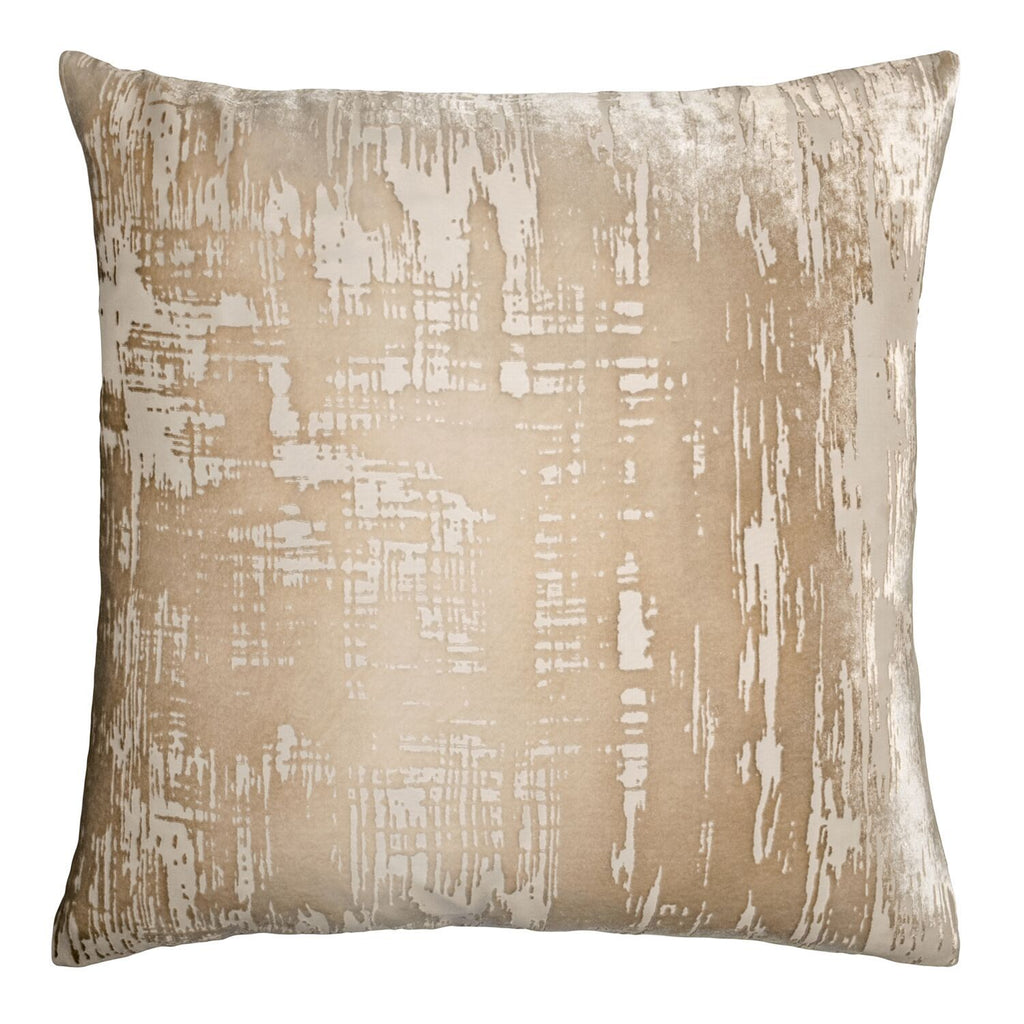 Latte Brush Stroke Pillow by Kevin O'Brien Studio | Fig Linens