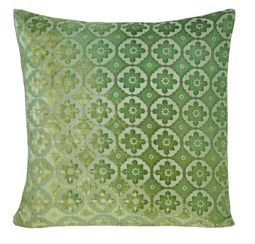 Small Moroccan Grass Velvet Pillows by Kevin O'Brien Studio | Fig Linens