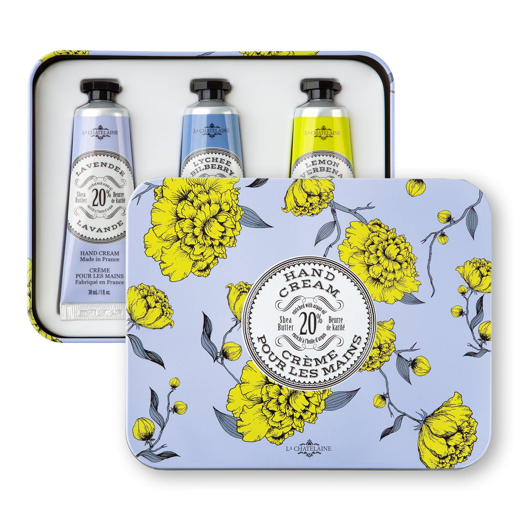 Hand Cream Gift Set - Deluxe Lavender Hand Cream Tin | Fig Linens