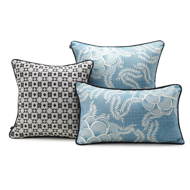 Canevas Lagoon Decorative Pillows by Le Jacquard Français | Fig Linens