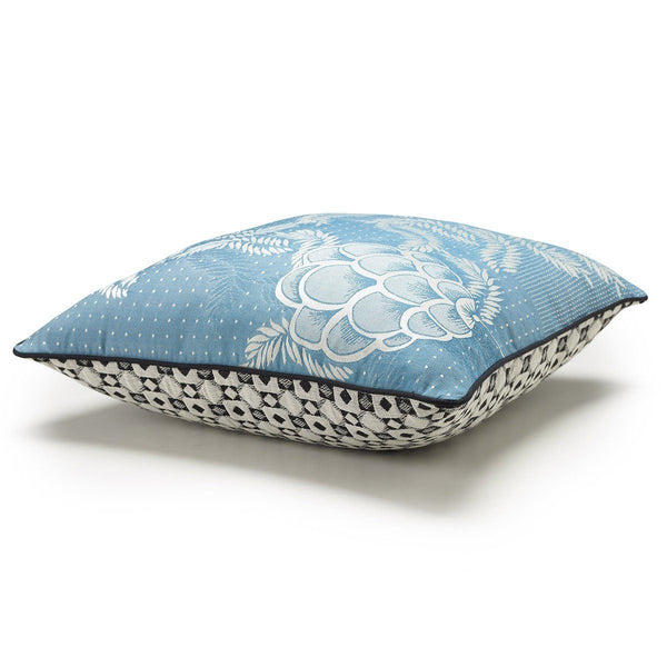 Canevas Lagoon Blue Decorative Pillows by Le Jacquard Français | Fig Linens