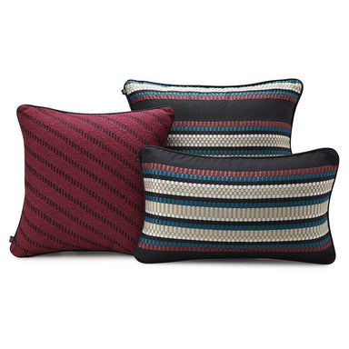 Pixel Plum Decorative Pillows by Le Jacquard Français | Fig Linens