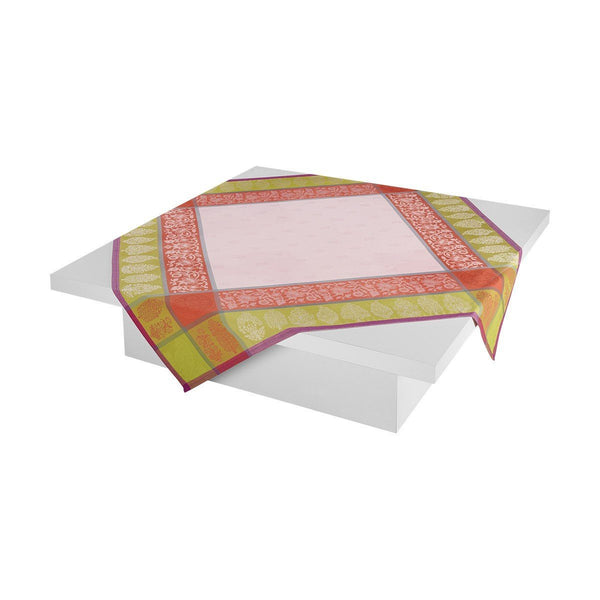 Sari Pink Square Tablecloth by Le Jacquard Français | Fig Linens
