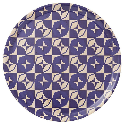 Le Jacquard Francais Bistronome Round Wood Tray - Fig Linens