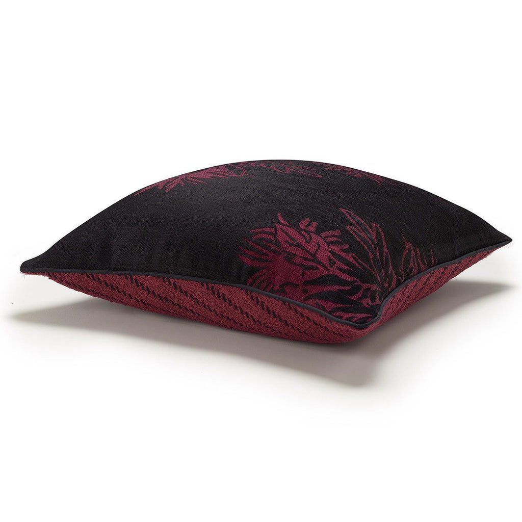 Gravure Plum Decorative Pillows by Le Jacquard Français | Fig Linens