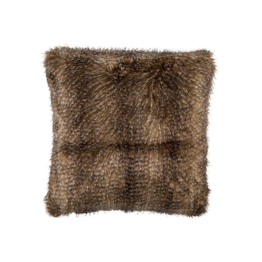 Chestnut Faux Fur Euro Pillow by Lili Alessandra