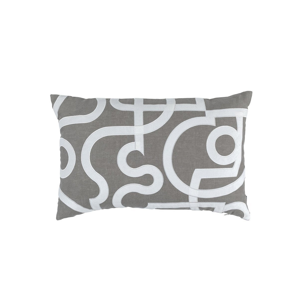 Geo Light Grey Pillow by Lili Alessandra | Fig Fine Linens and Home