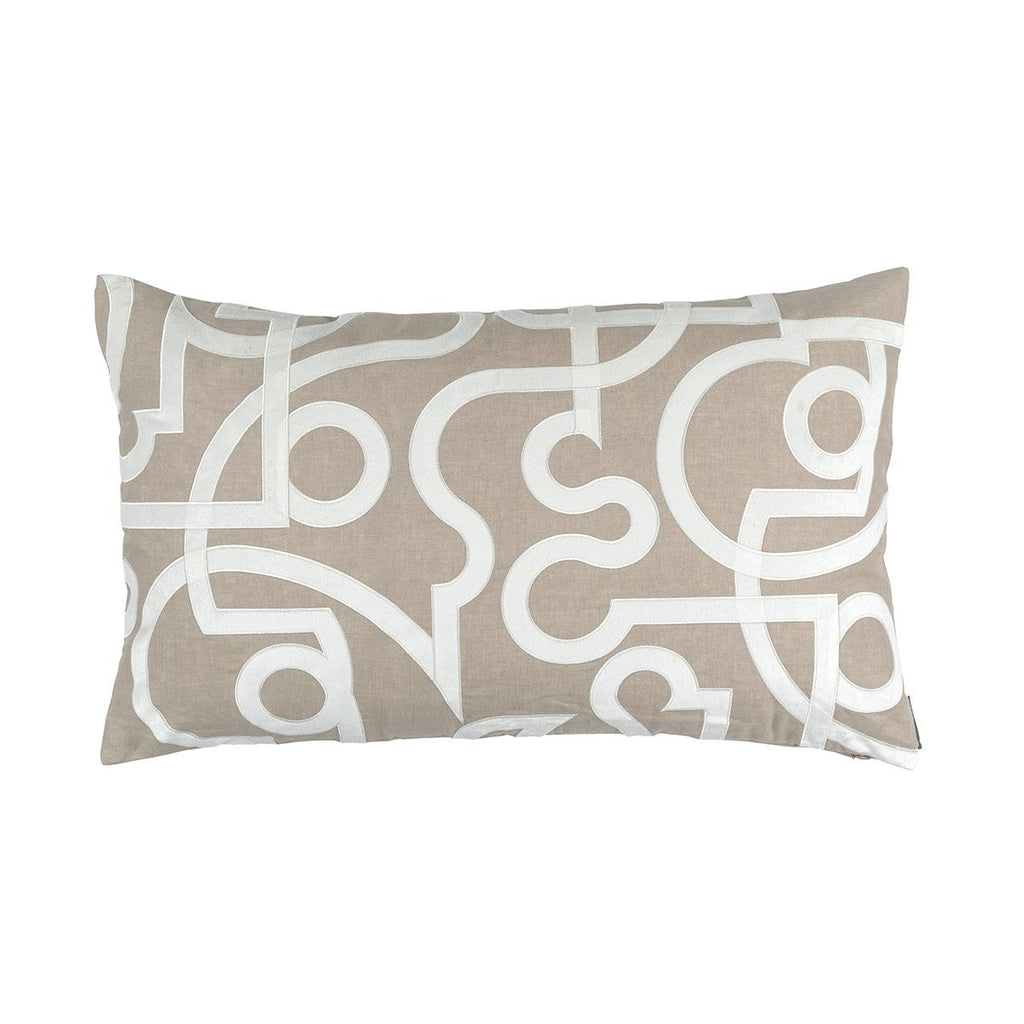 Geo Raffia Lumbar Pillow by Lili Alessandra | Fig Linens and Home