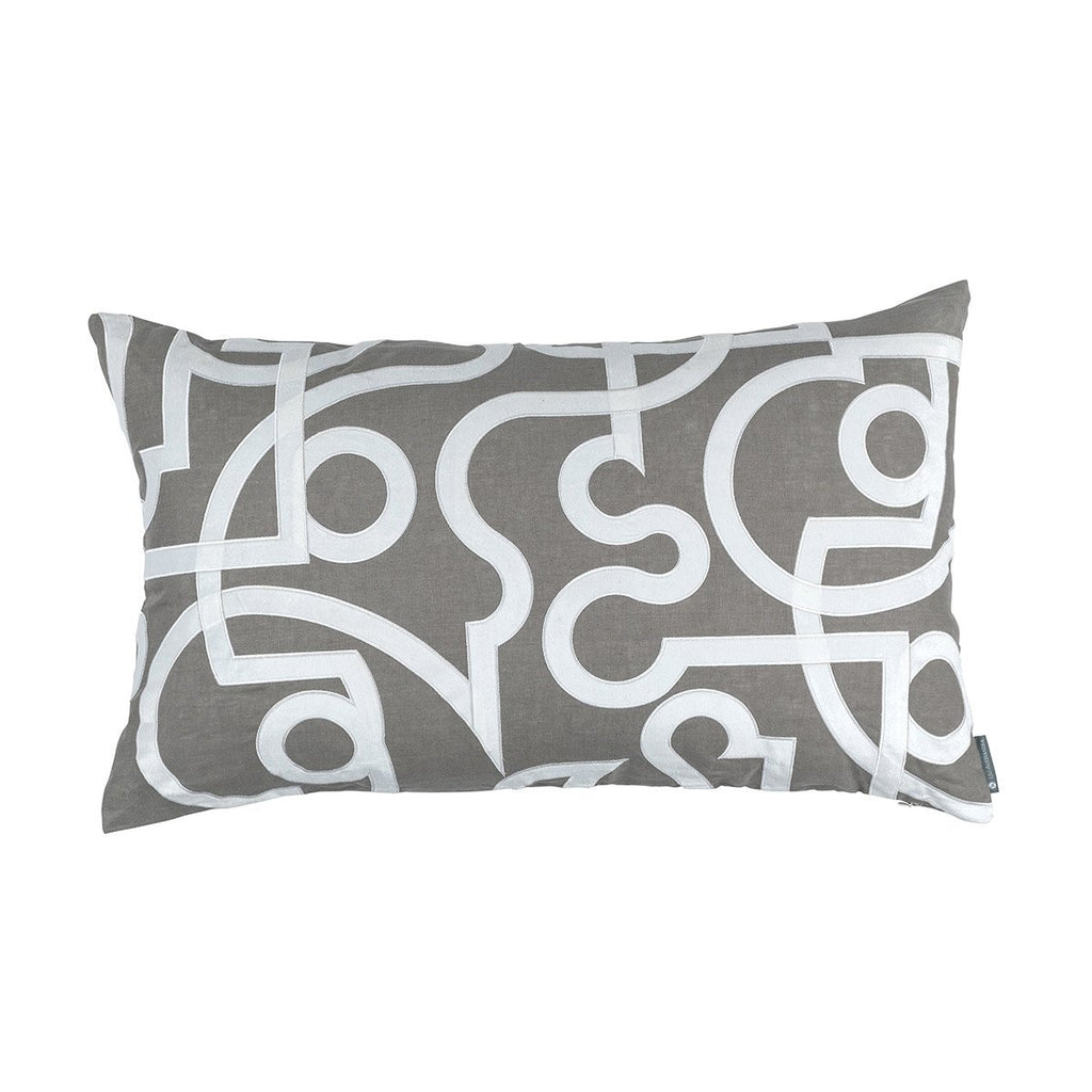 Geo Light Grey Lumbar Pillow by Lili Alessandra | Fig Fine Linens and Home