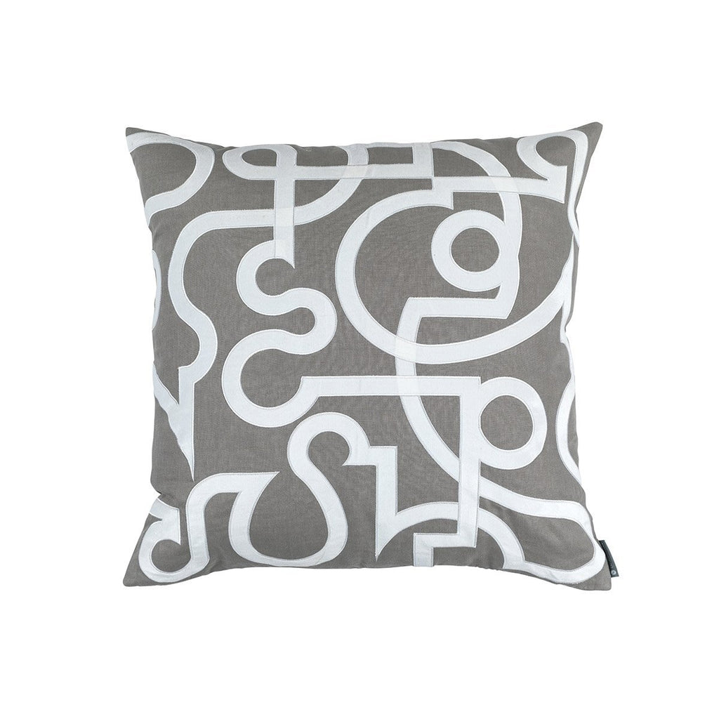 Geo Light Grey Square Pillow by Lili Alessandra | Fig Fine Linens and Home