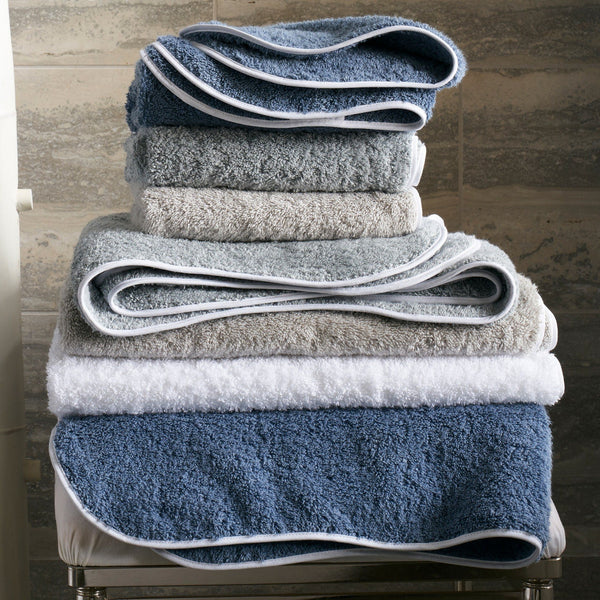 Cairo Wave | Matouk Towels & Tub Mats at Fig Linens and Home