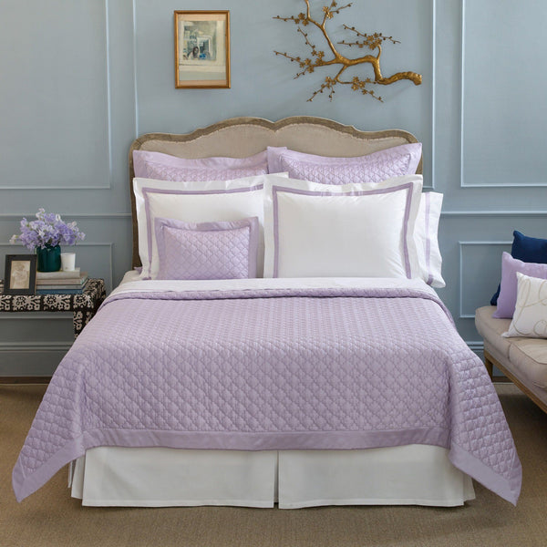 Matouk Ava Violet Bedding Quilts & Shams - Fig Linens