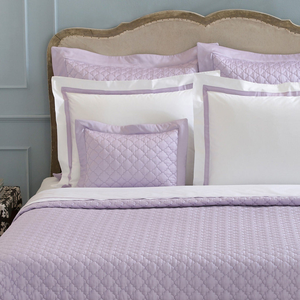 Matouk Ava Violet Bedding Quilts - Fig Linens