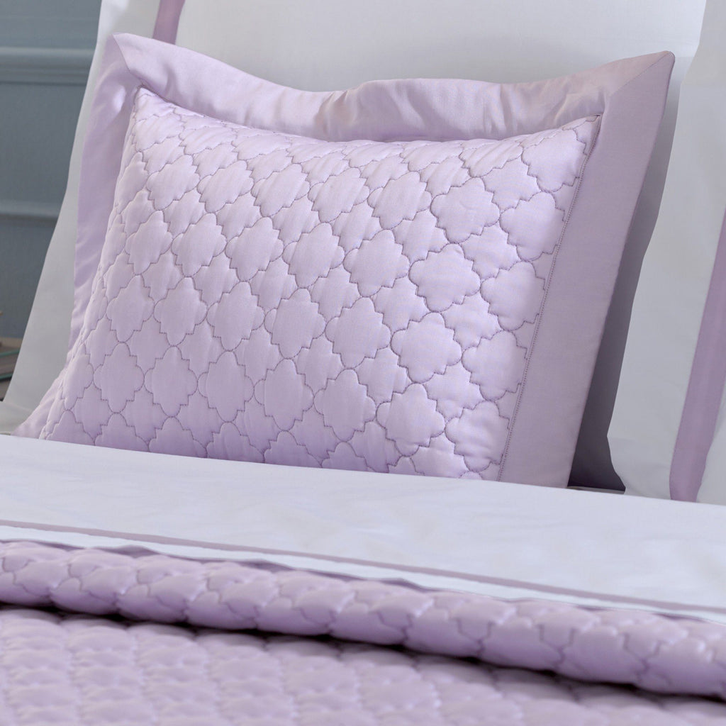 Matouk Ava Violet Bedding Shams - Fig Linens
