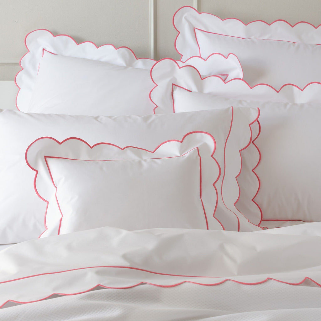 fig linens - matouk - butterfield coral bedding
