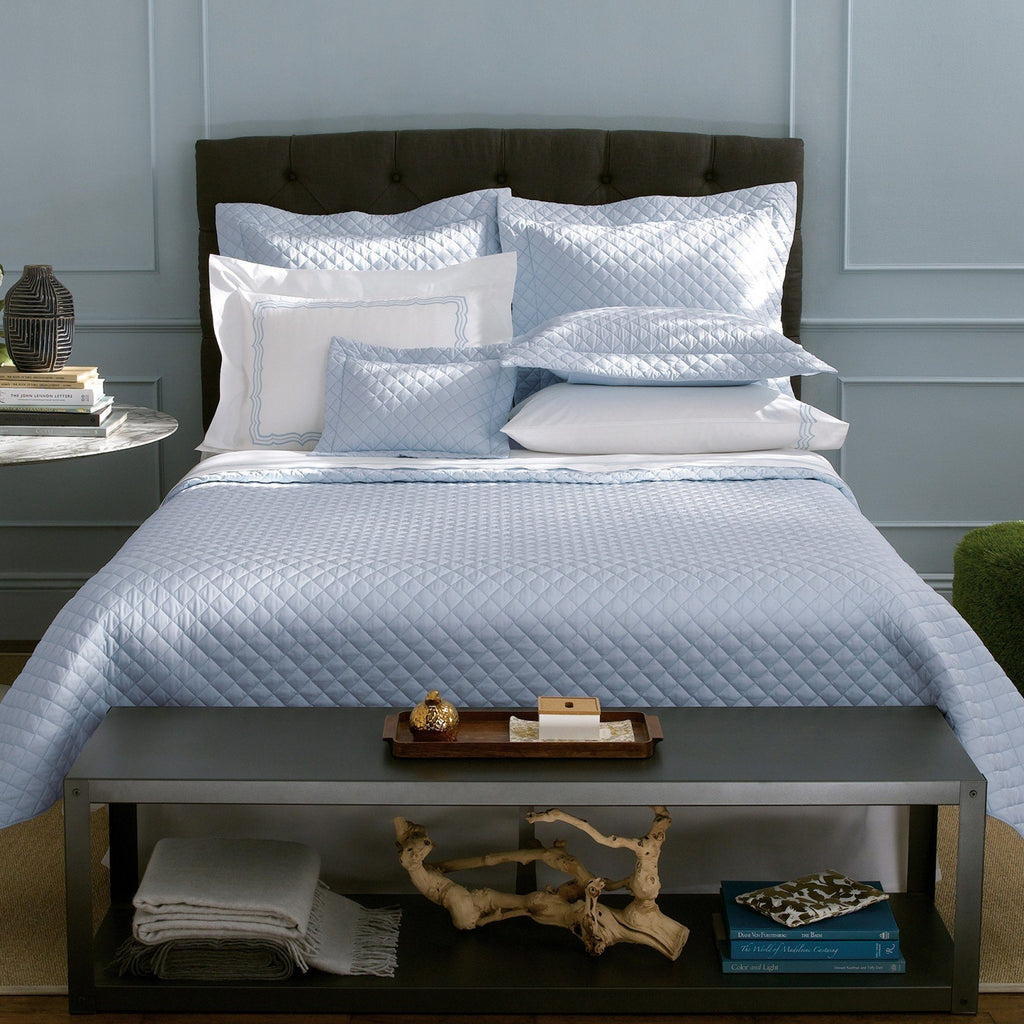 fig linens - matouk gemma sky bedding