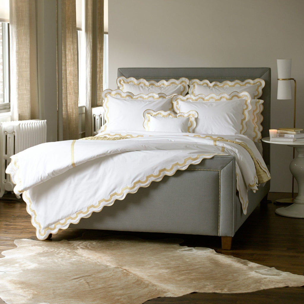 Matouk Honey Bedding - Mirasol Duvets, Sheets & Shams - Fig Linens