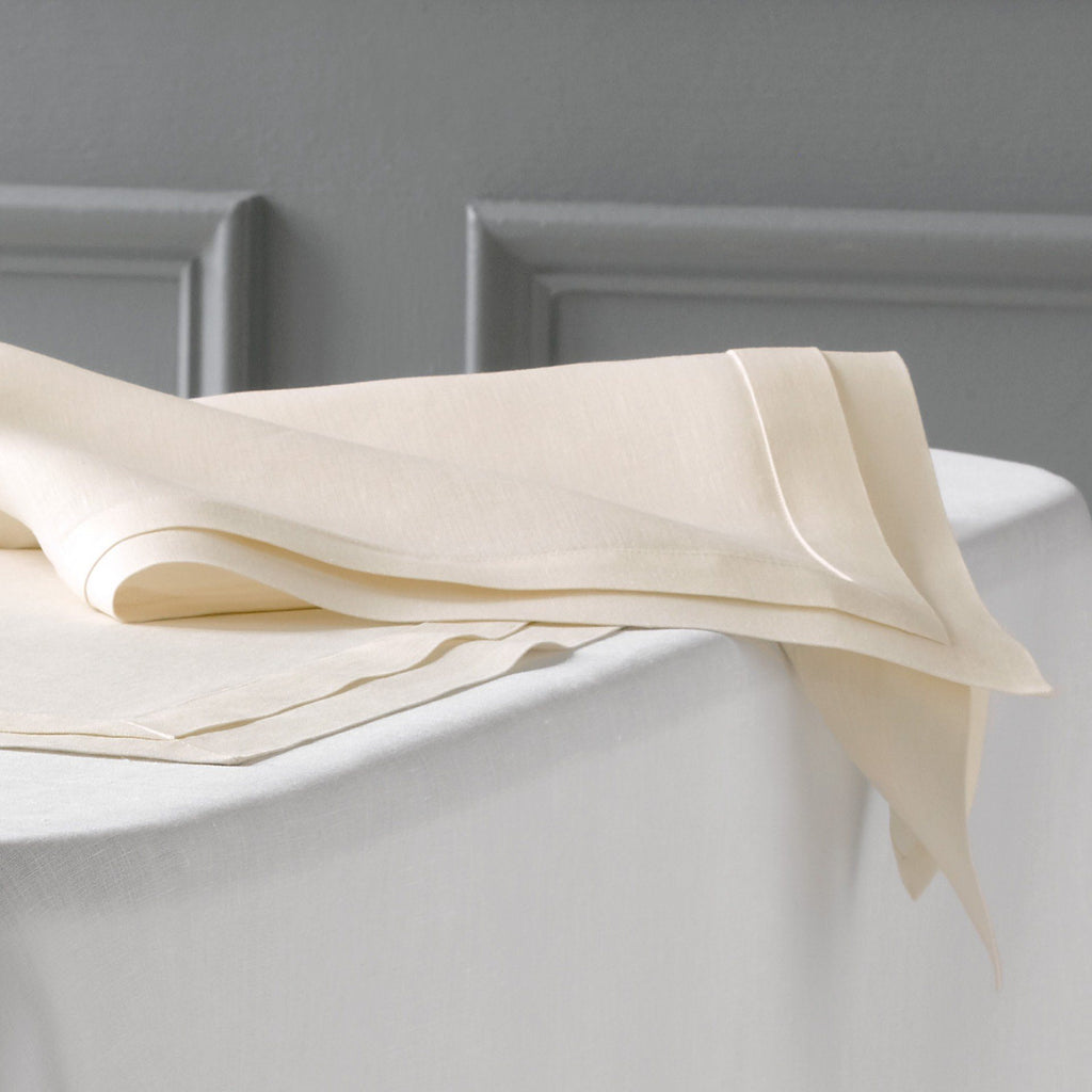 White luxury linen table linen - Lucerne by Matouk - Fig Linens