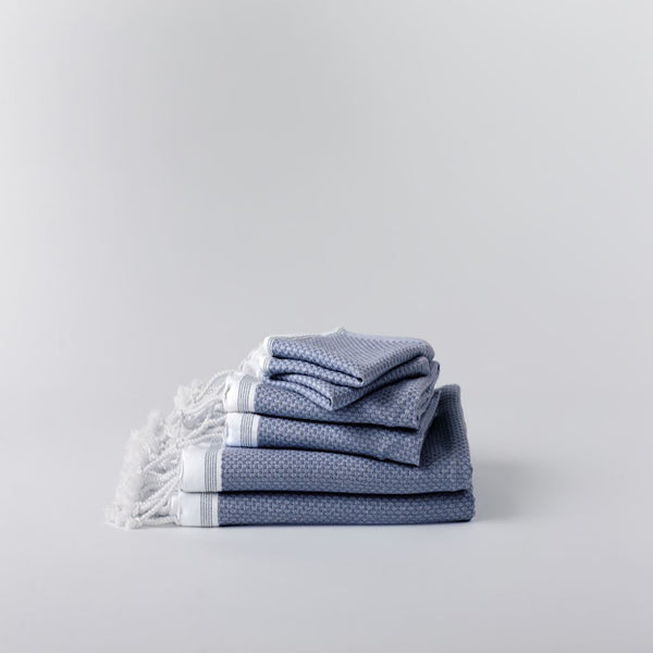 Mediterranean Lake Organic Bath Linens by Coyuchi | Fig Linens