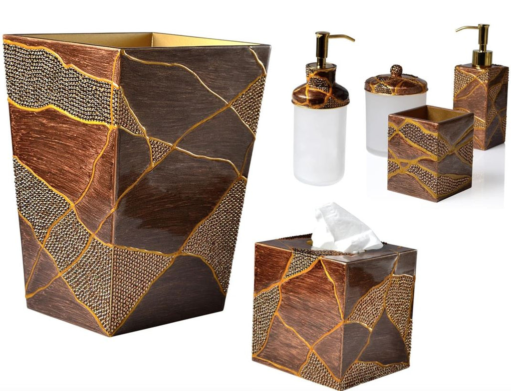 Genesis Bronze Gold Bath Accessories By Mike Ally Fig Linens