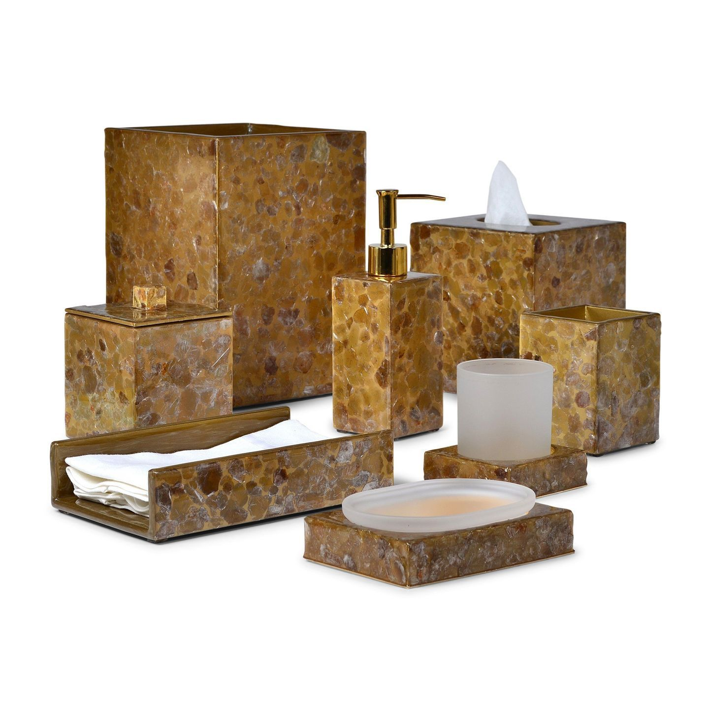 Mica Gold Bath Accessories by Mike + Ally