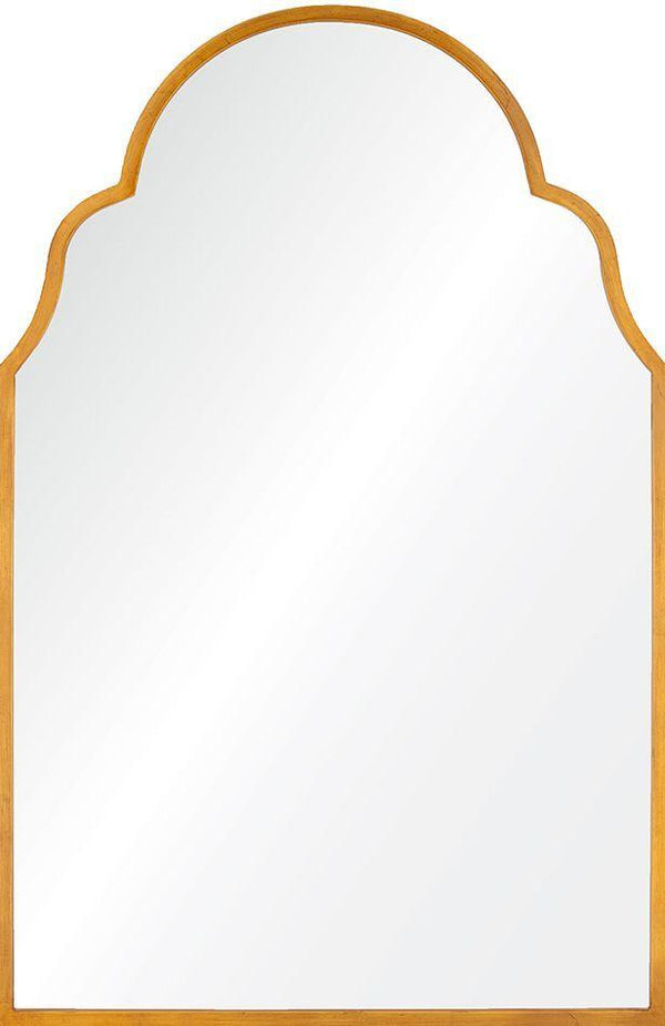Large Wall Mirror by Mirror Image Home - Antiqued Gold Leaf Iron Arch Mirror  | Fig Linens