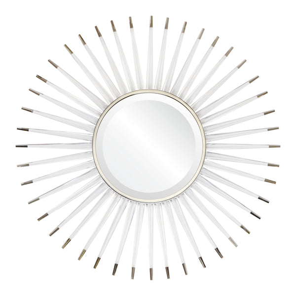 Acrylic & Nickel Starburst Mirror by Mirror Image Home | Fig Linens