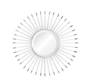 Acrylic & Nickel Starburst Mirror