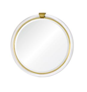 Mirror Image Home - Acrylic & Brass Round Wall Mirror | Fig Linens