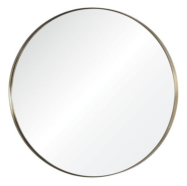 Antiqued Nickel Round Wall Mirror by Mirror Image Home | Fig Linens
