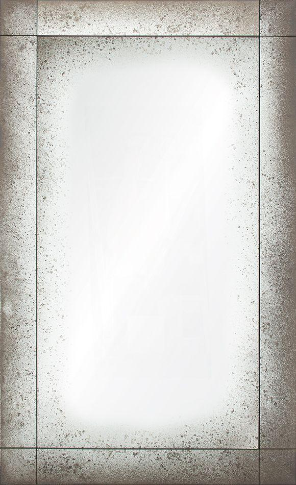 Luxury wall decor - Mirror Image Home - Antiqued Frameless Panel Mirror | Fig Linens
