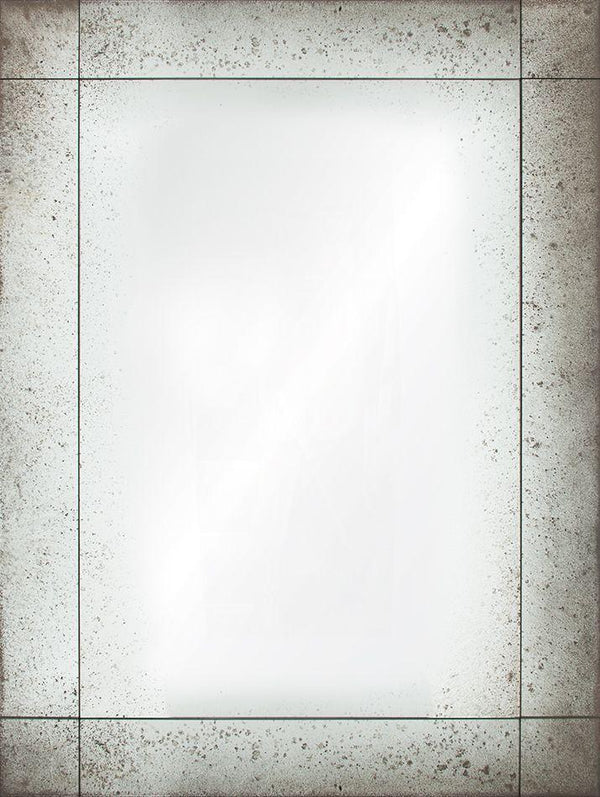 Luxury Wall Decor - MirrorImage Home - Antiqued Frameless Panel Mirror | Fig Linens