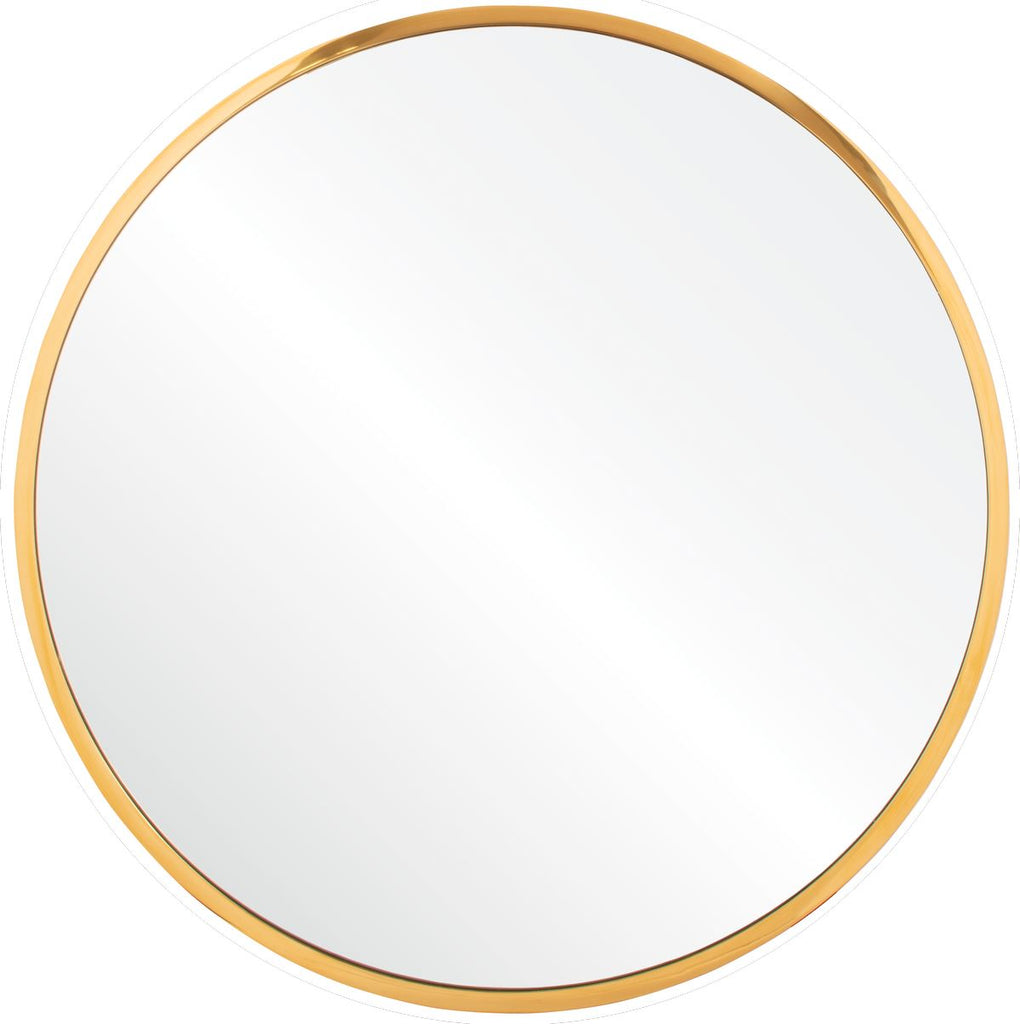 Mirror Image Home Accent Wall Mirror - Burnished Brass Round Accent Mirror | Fig Linens
