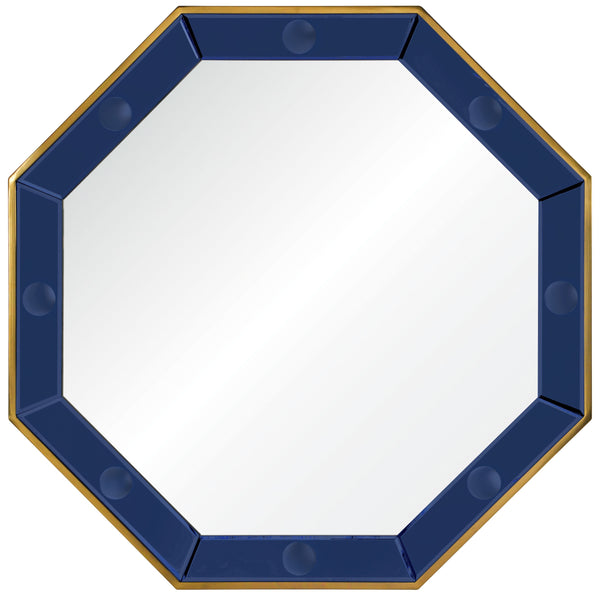 Blue Octagonal Accent Wall Mirror by Bunny Williams -  Fig Linens