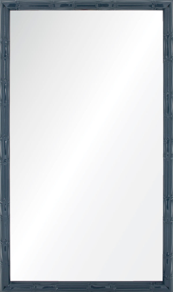 Navy Lacquered Wall Mirror by Bunny Williams - Fig Linens