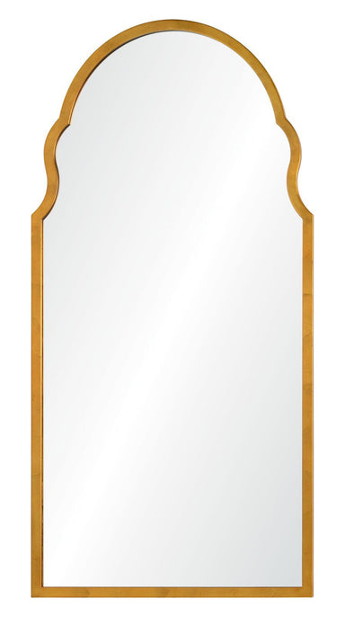 Large Wall Mirror - Distressed Gold Leaf Iron Mirror by Bunny Williams | Fig Linens