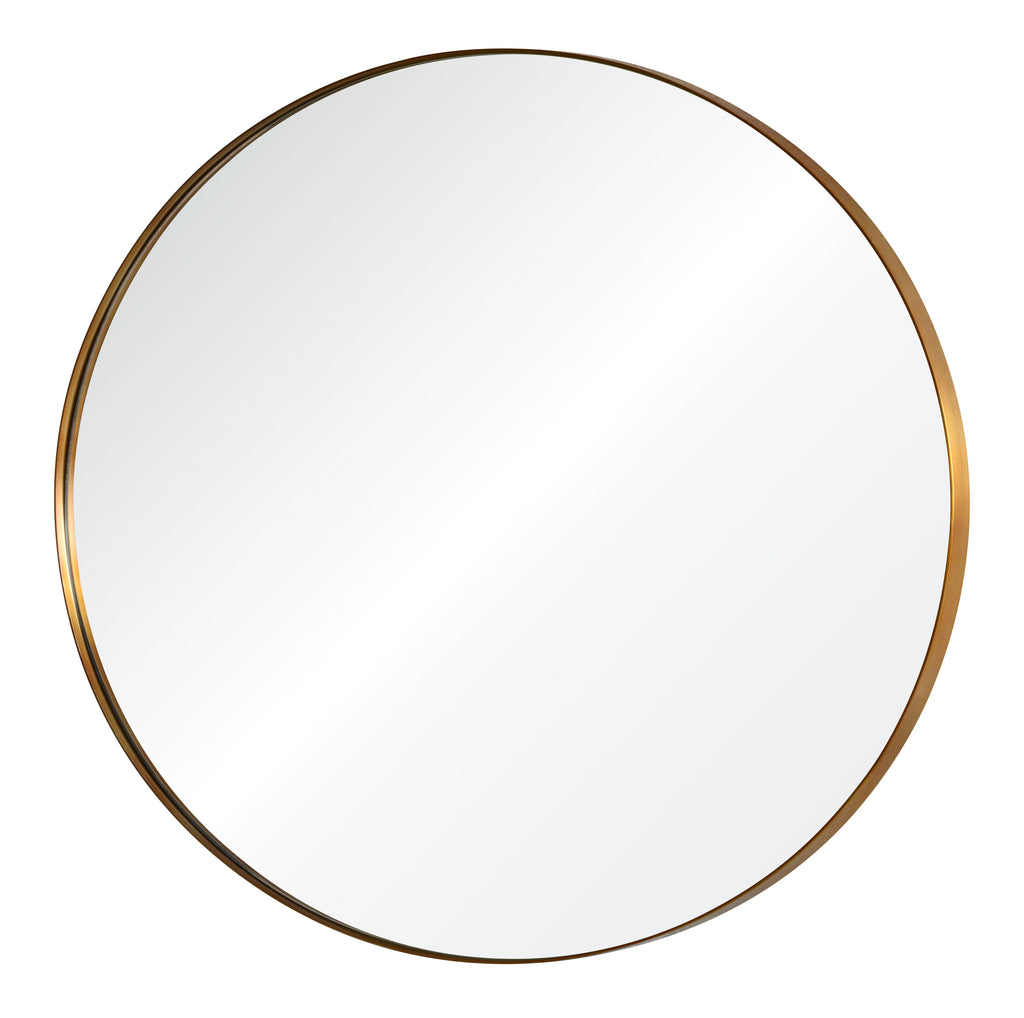 Antiqued Light Bronze Round Mirror by Mirror Image Home| Fig Linens