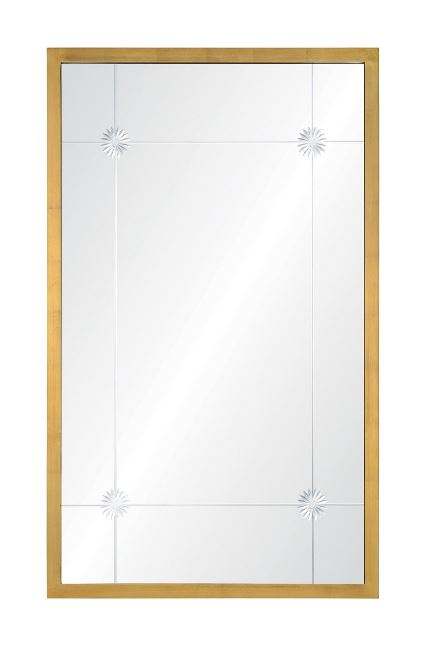 CK1142 Mirror Image Home - Alexandra Aged Gold Wall Mirror by Celerie Kemble | Fig Linens
