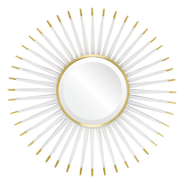 Acrylic & Brass Starburst Mirror by Mirror Image Home | Fig Linens