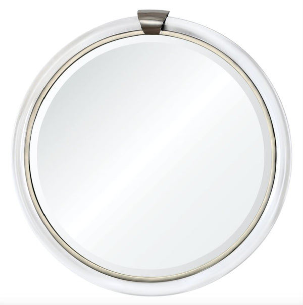 Mirror Image Home - Transitional Mirror - Acrylic & Nickel Round Wall Mirror | Fig Linens