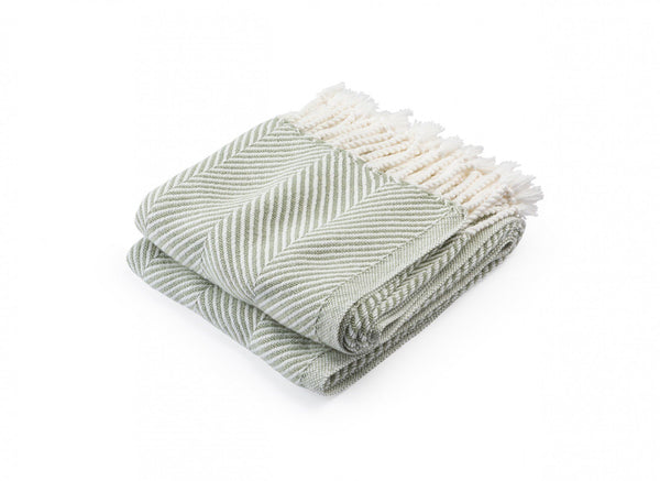 Monhegan Tea Herringbone Throw by Brahms Mount | Fig Linens