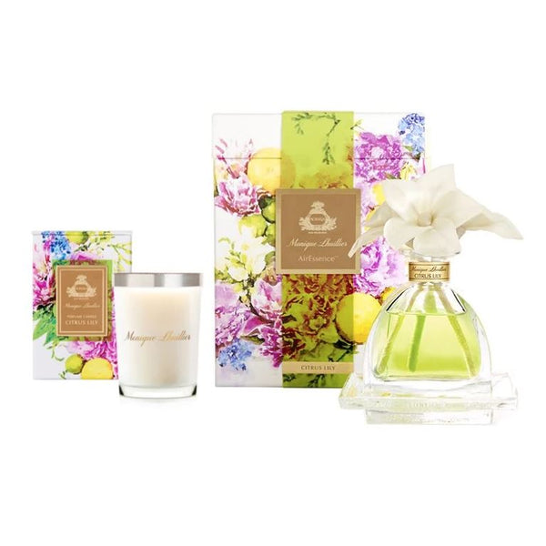 Monique Lhuillier Citrus Lily Diffuser & Candle Set | Fig Linens